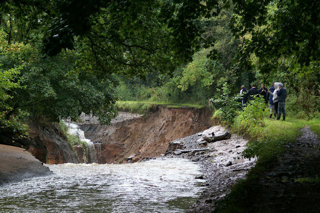 Trent and Mersey Breach at Dutton Hollow