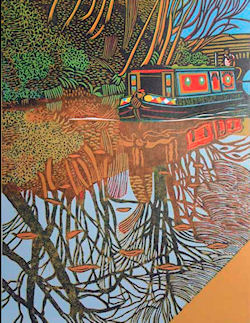 Narrow Boat print by Eric Gaskell