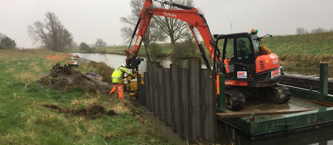 Piling on the River Cam