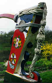 Butty rudder ropework