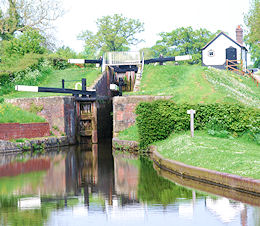 Narrow lock staircase at Frankton (Montgomery Canal)