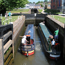 Diglis Lock on the Worcester & Birmingham Canal