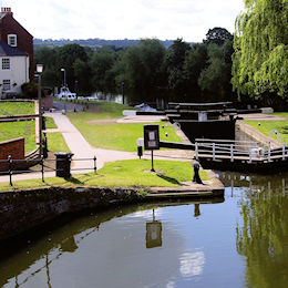 Barge lock into the Severn at Stourport