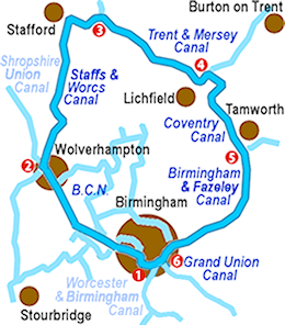 the Black Country Ring Map
