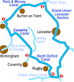 the Leicester Ring Map
