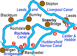 The Pennine Rings Map