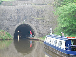 Waiting to enter Chirk Tunnel