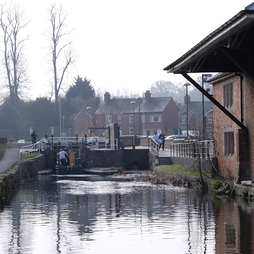 Montgomery Canal in Welshpool